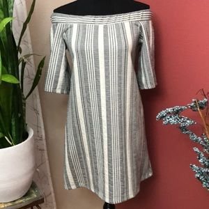 EUC - Zara -Trafaluc - Off Shoulder Tunic Dress